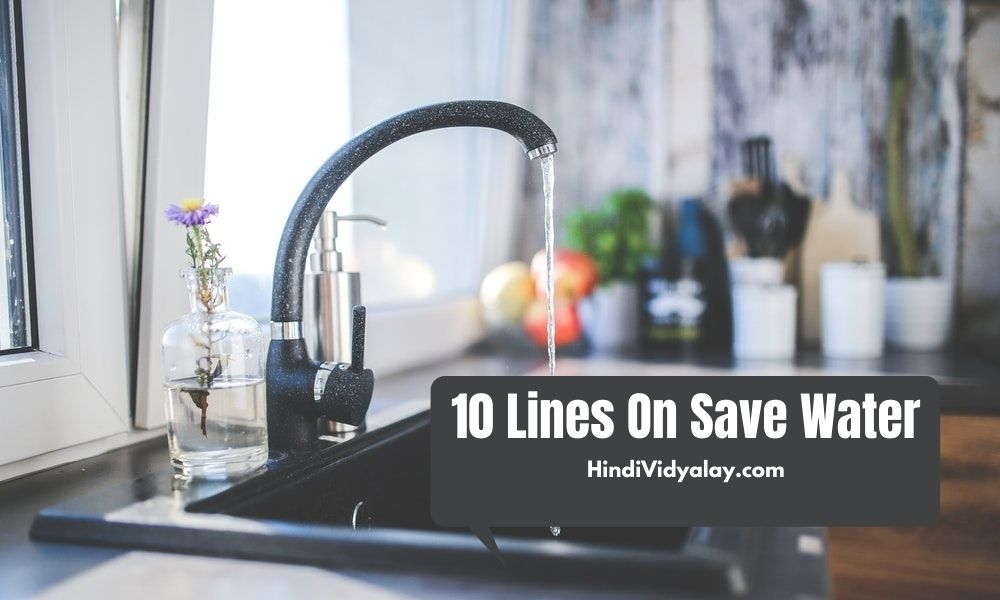 10 Lines On Save Water In Hindi And English Language