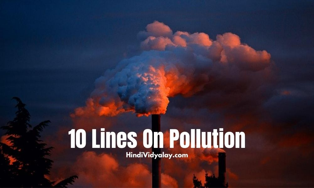 10 Lines On Pollution In Hindi And English Language