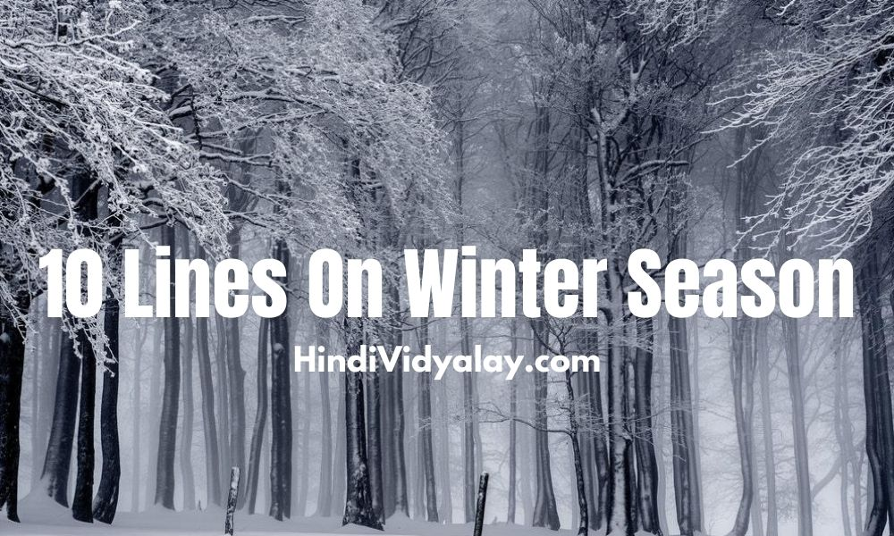 10 Lines On Winter Season In Hindi And English Language