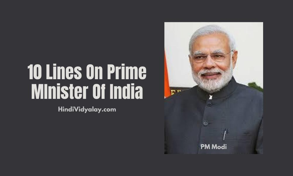 10 Lines On Prime Minister Of India In Hindi And English Language