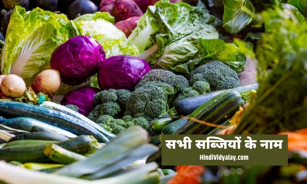 List of all the vegetable names in Hindi and English language with pictures. सभी सब्जियों के नाम